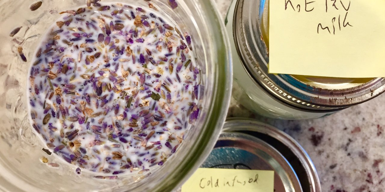 Lavender Infused Milk for Cheerios