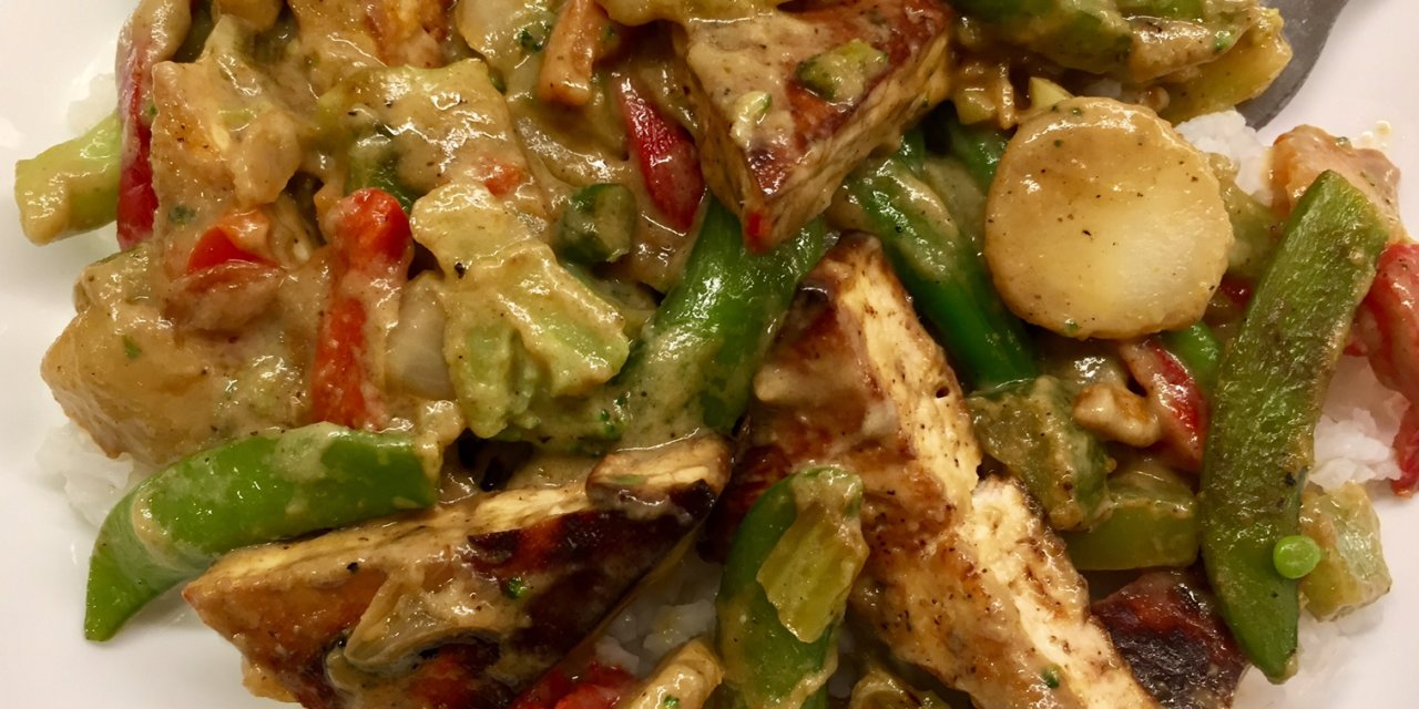An Easy Dinner with Trader Joe's Thai Green Curry Simmer Sauce